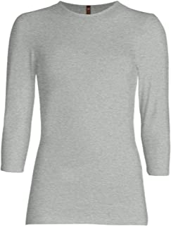 3/4 Sleeve Shirt for Women Fitted/Relaxed Cotton Lycra Base Layering