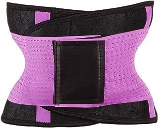 RZDJ Women Slimming Body Shaper Waist Belt Girdles Control Waist Trainer Corset Shapwear Modeling Strap (Color : Purple, Size : M)