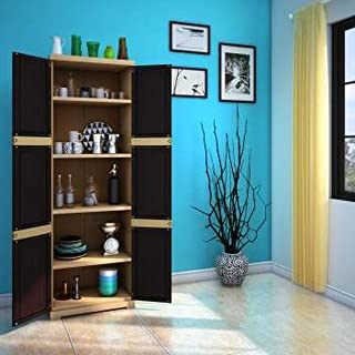 Nilkamal Freedom Mini Large (FML) Plastic Storage Cabinet (Weathered Brown & Biscuit)