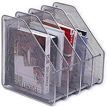 File Sorters Storage Office SuppliesMagazinesmesh Magazine Rack Newspaper Holder Desk Organizer Accessories Large Storag...