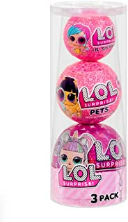 LOL 서프라이즈 인형 LOL Surprise Dolls 3 Pack - Lil Sisters, Pets, and Sparkle Series - 1 Set of LOL Surprise Dolls