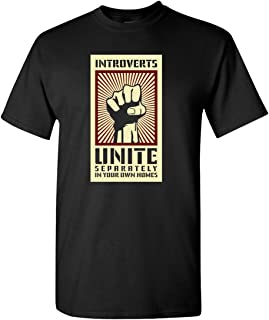 Thread Science Introverts Unite Sarcastic Nerd Loner Funny Humor Adult Men's T-Shirt Apparel