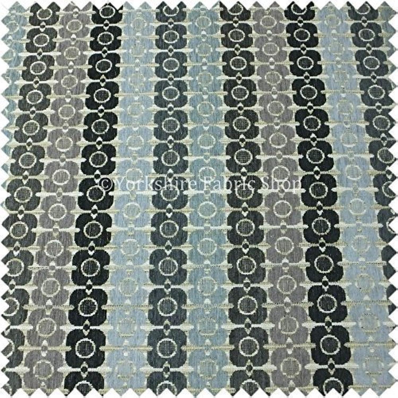 Yorkshire Fabric negozio Piccolo motivo geometrico grigio lilla blu Coloreeee in ciniglia, rivestimento interno tessuto