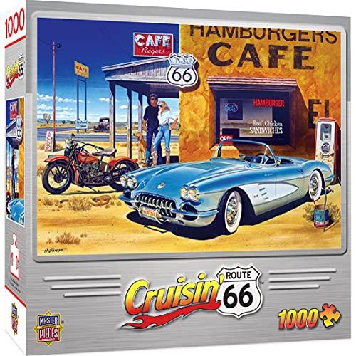 Masterpieces Route 66 Cafe Cruisin' Jigsaw Puzzle (1000 Piezas)