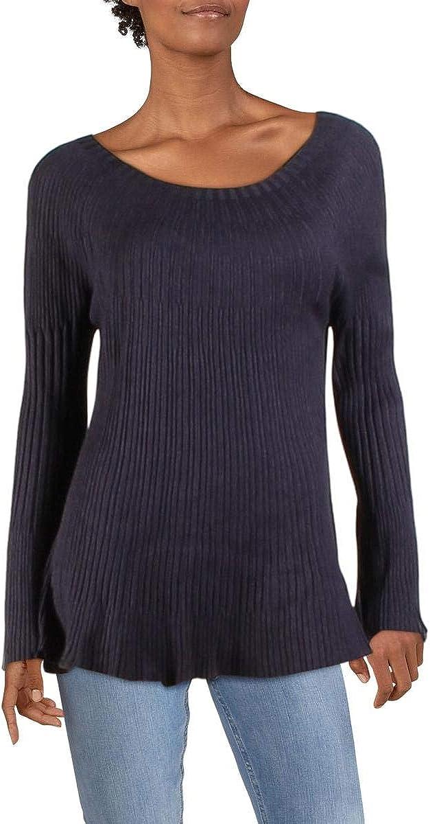 Vila Milano Womens Knit Ribbed Pullover Sweater