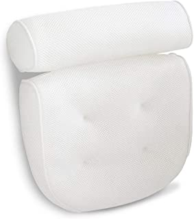 Bath Pillow with Head, Shoulder & Neck Support,with Non-slip Large Suction Cups,Turn your Bathtub to a Home Spa