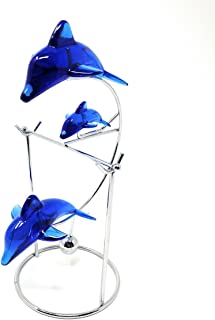 THY COLLECTIBLES Cute Dolphin Desk Toy Physical Swing lucky Toy Executive Simple Decoration- Family Of Three Dolphins