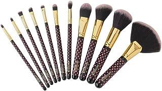 Soft Professional Makeup Brushes Set - 11 Pcs Pink a Dot Makeup Brush Sets With Travel Case/Make Up Foundation/Powder/Eye Shadow/Concealer/Brush by Kiwishow