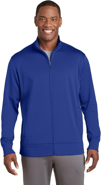 Sport-Tek Sport-Wick Fleece Full-Zip Jacket ST241 True Royal Large