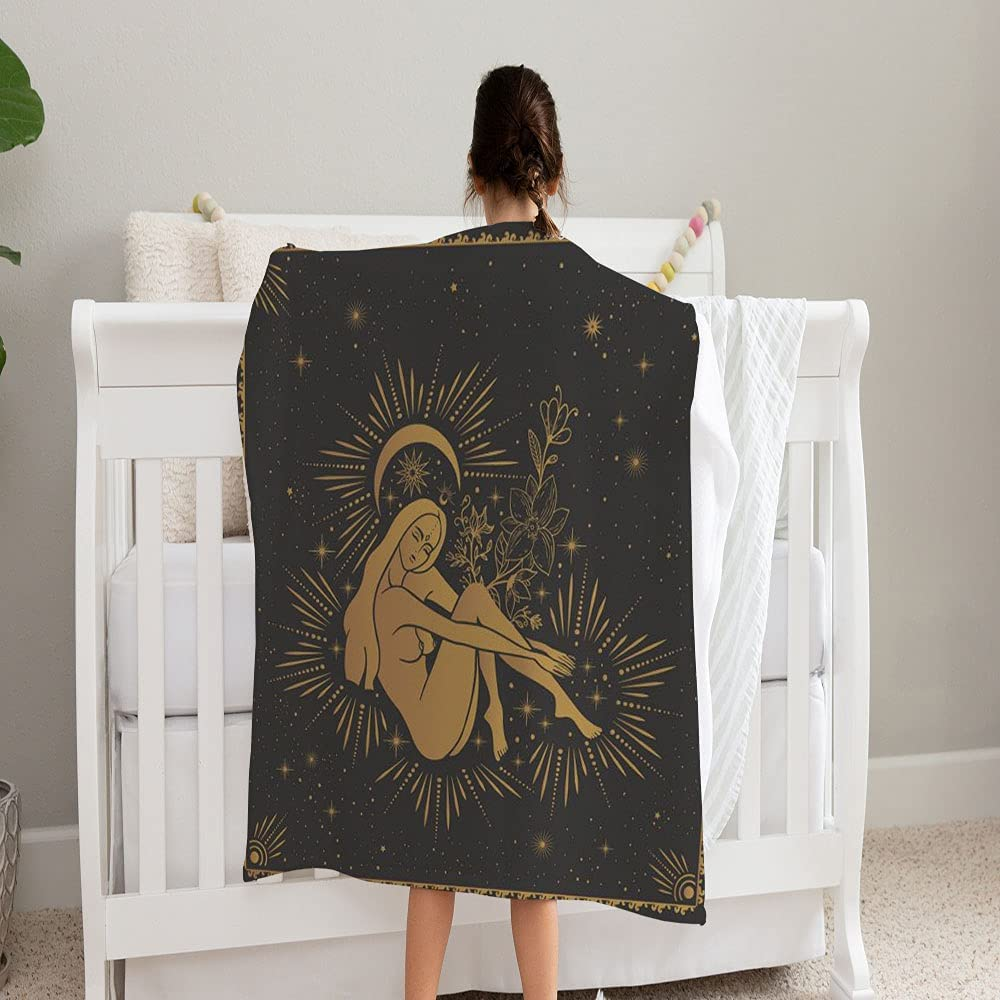 LPVLUX Magic Girl Witch Moon New sales Ranking TOP14 Tarot Super Soft Blanket Cards and