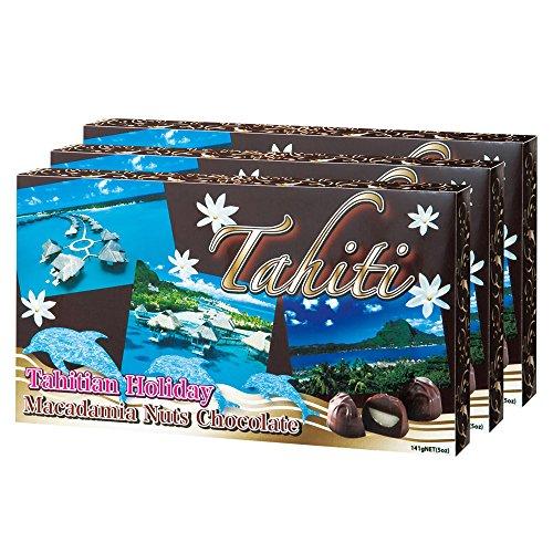 タヒチお土産   タヒチ マカデミアナッツチョコレート 3箱セット
