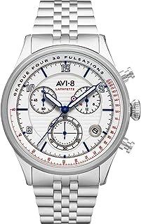 Avi-8 Men's Flyboy AV-4076-11 White Stainless-Steel Japanese Quartz Fashion Watch