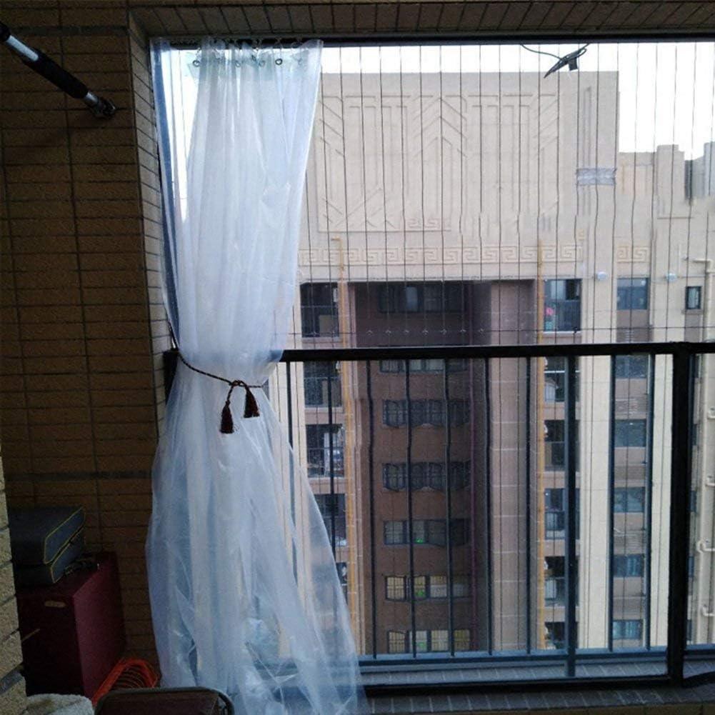 YUMUO Bâche Semi-Transparente Tente extérieure Balcon Toile de Pluie Toile d'isolation en Plastique Toile de Rideau de Pluie 80 G/mètre carré (Dimensions: 5 * 5 m) 9