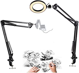 Online Course Video Recording Stand,YouTube Light with 2 Arm Mounts Compatible with Logitech Webcam C920 C930e C922x C925e C615 Brio for Calligraphy Sketch Craft Live Streaming