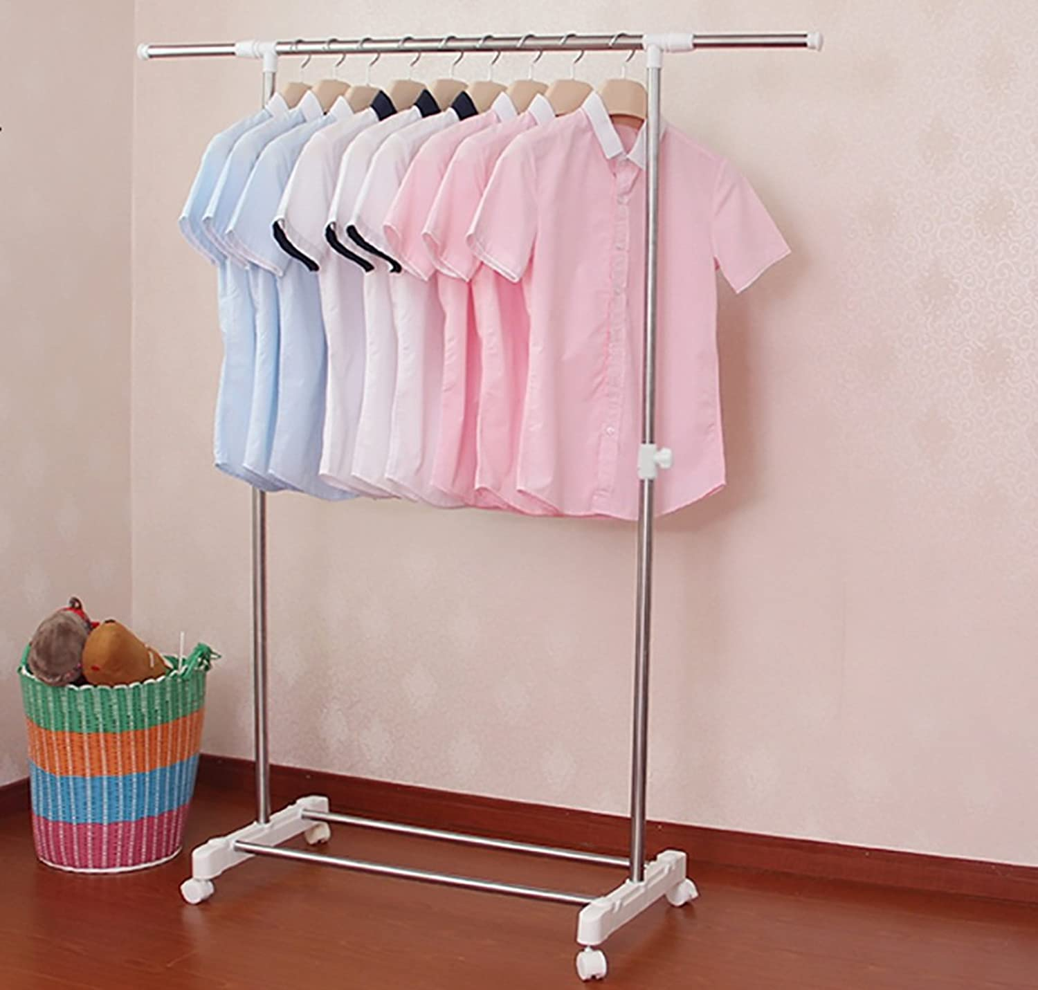 Coat Rack Coat Rack Floor Drying Racks Single Pole Retractable Stainless Steel Drying Rack Drying Rack Balcony Drying Rack (color   B)