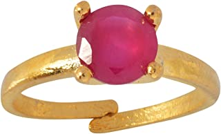 Geode Delight Gold Plated Pink Stone Studded Adjustable Ring