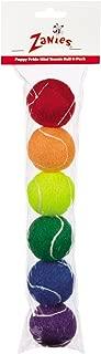 Zanies Mini Puppy Pride Tennis Balls for Dogs, 6-Packs