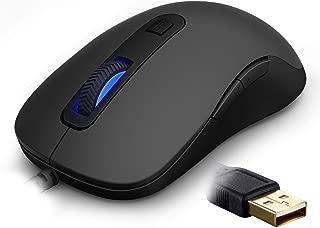 RAPOO Gaming Mouse Wired with Led Backlight, Ergonomic Design, 5 Adjustable DPI, 7 Programmable Buttons for Windows 7/8/10/XP Vista, Desktop, Laptop, PC- Black