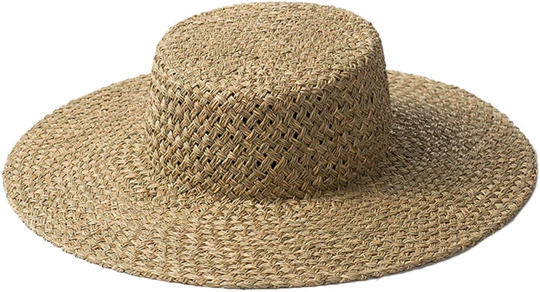 Nafanio Summer HandWoven Straw Hats for Men Women Outdoor Travel Sunscreen Breathable Beach Shade Sun Hat