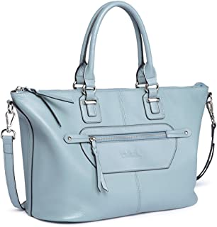 BOSTANTEN Genuine Soft Leather Handbags for Women Tote Shoulder Purse Crossbody Bags
