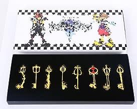 Kingdom Hearts Metal Keyblade Sword Weapon Set Of 8 (Gold Ver.)