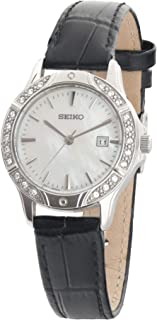 Seiko for Women - Analog SUR873P1 Leather Watch