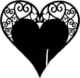 Générique Rlmobes Carte de Tasse de Type Coeur Carte de Table en Verre à vin Mini Cartes de nom découpées au Laser,Noir