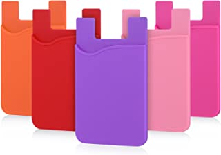 Sticky Card Holder Wallet, Pofesun Ultra-Slim Adhesive Silicone Credit Card Holder Wallet Case,Stick-on Sleeve Pocket Comp...