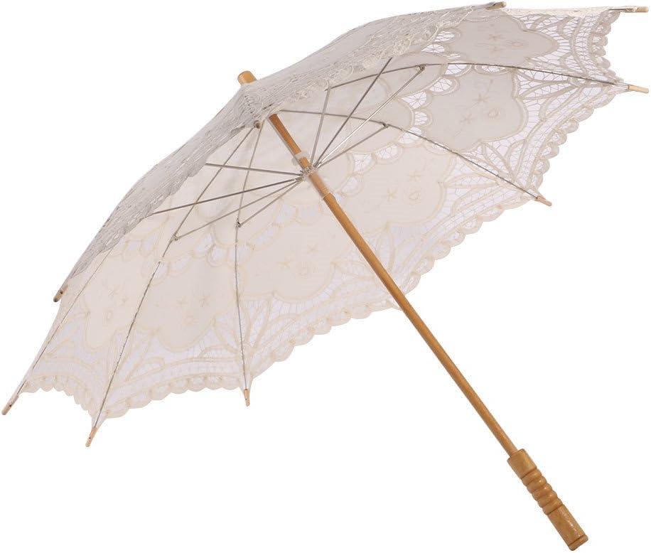 High quality new ESHOO Vintage Lace Parasol Umbrella for Bridal Wholesale Wedding Party Dec
