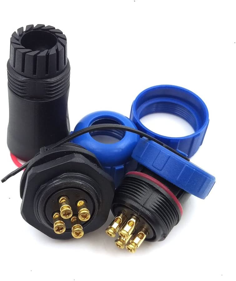 5 PIN SP21 IP67 2PIN 3PIN 4PIN 5PIN Waterproof Connector Screw Press Connect Plug Aviation Connector 30A 500V Industrial Connector Adapter