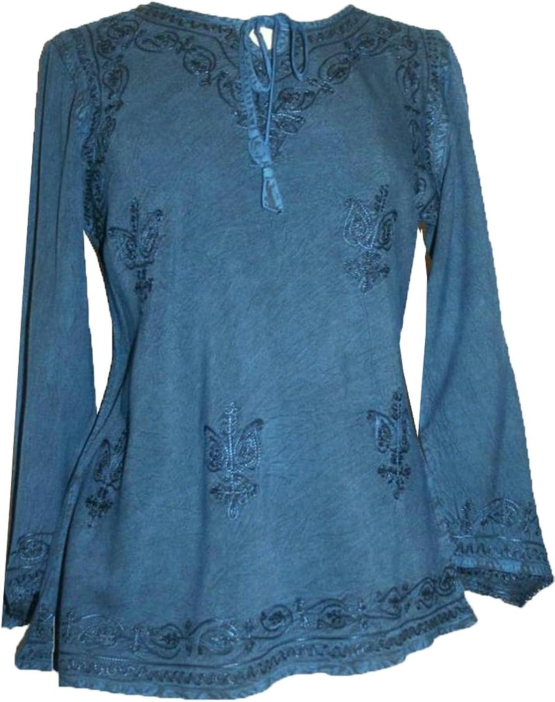 117 B Agan Traders Medieval Renaissance Vintage Gypsy Top Blouse Tunic