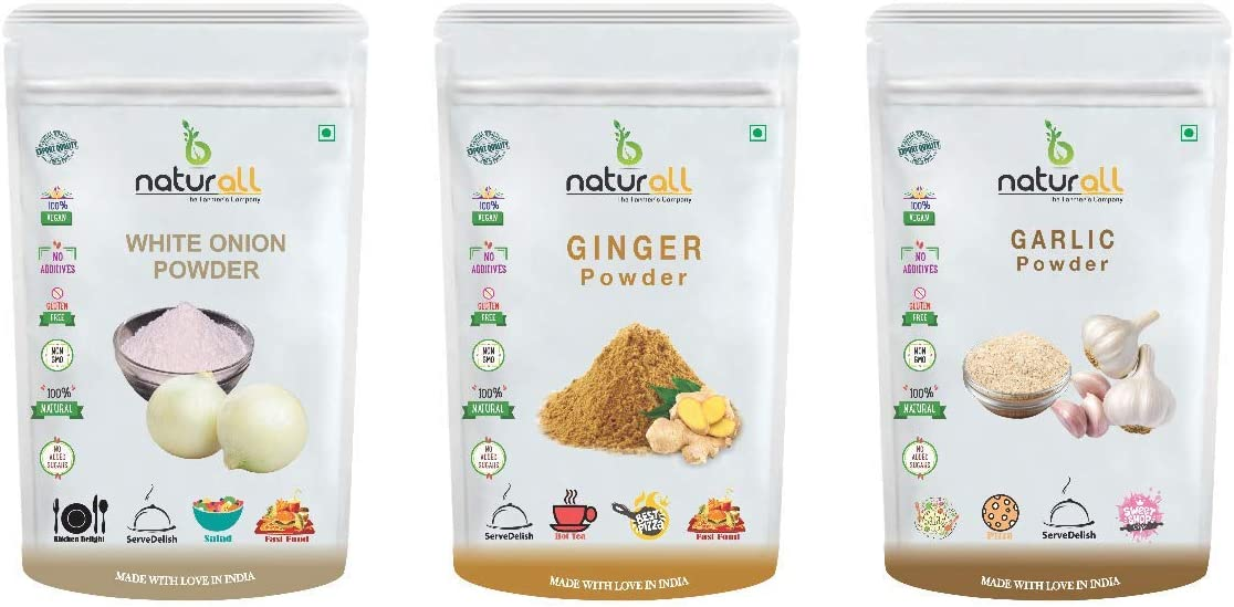 shop Anjani B 4 years warranty Naturall Pack of 3 Powder Onion Ginger - White