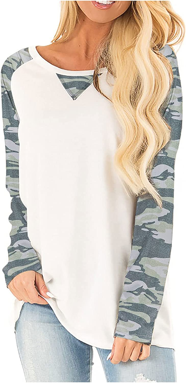 Fall Tops for Women Leopard Long Sleeve Tunic Tops Fashion O Neck Pullover Printed Sweatshirt Loose