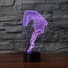 JYHW Creatieve wooncultuur LED 3D paard modellering 7 kleuren veranderen nachtlampje sfeerverlichting USB bureaulamp baby ...