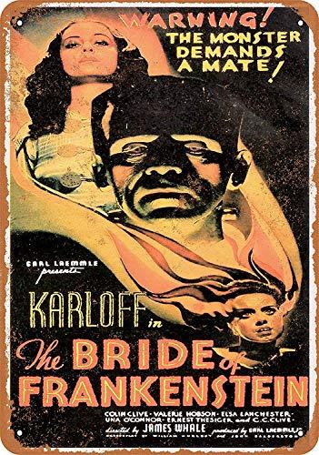 Watermelo The Bride of Frankenstein Carteles de Chapa Carteles de Advertencia Carteles de Metal Decorado Bar Restaurante Cocina Oficina Tema Boda Cumpleaños Navidad Pascua Regalo