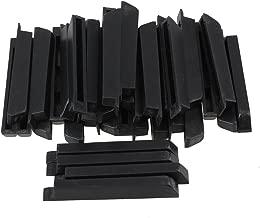 BQLZR Black Antique PVC Piano Keytops Sharp Piano Keys Flats Repair Replacement Parts Pack of 36