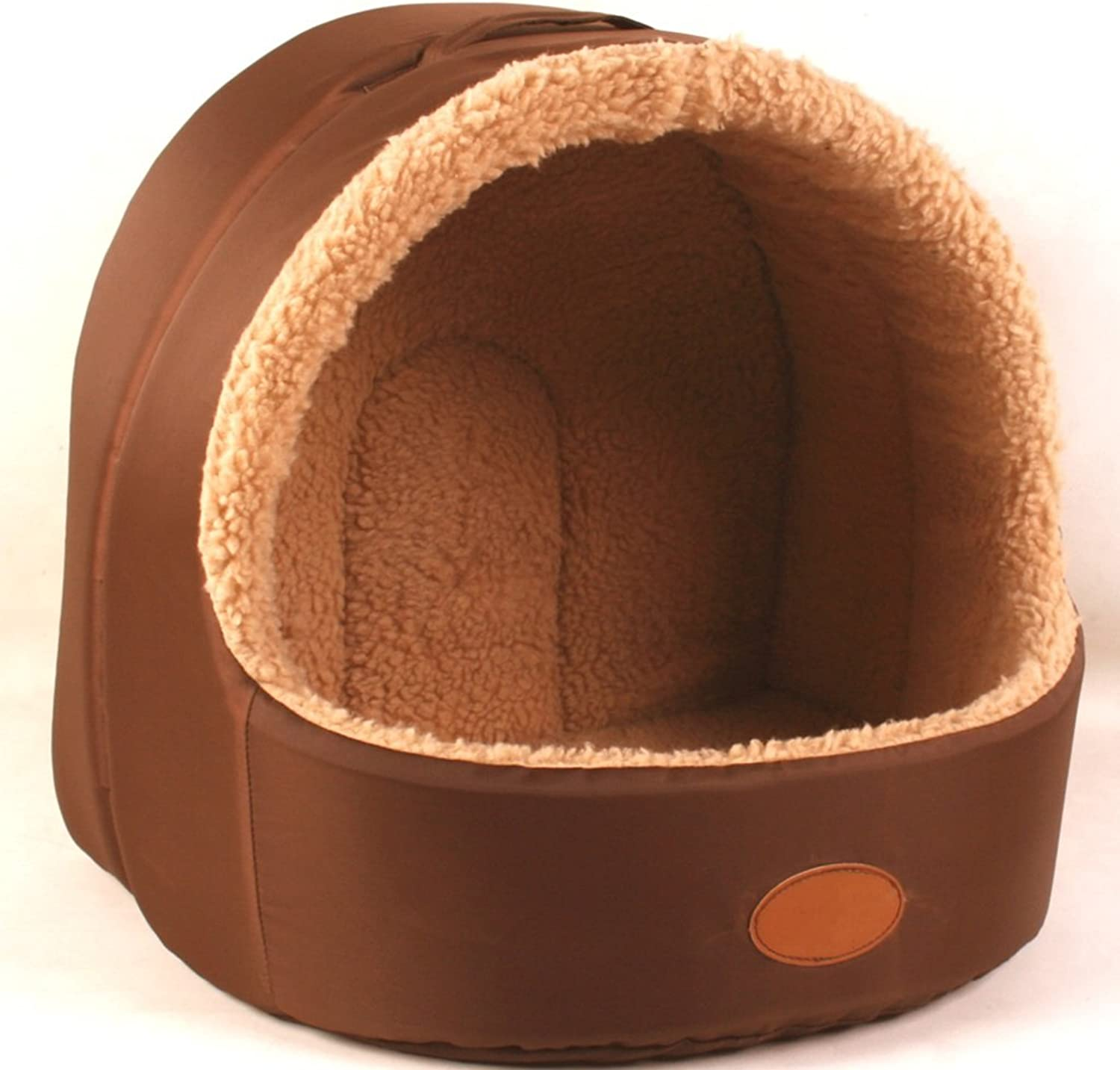 PETBED Mezie Pet Kennel Cat Nest Removable And Washable Four Seasons ApplySmall Dog Bed Mat Dog Room,Brown,45  40cm