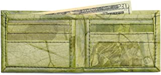 Leaf Leather Bifold Wallet - Mens/Unisex Flip Wallet, Handmade - Color Options