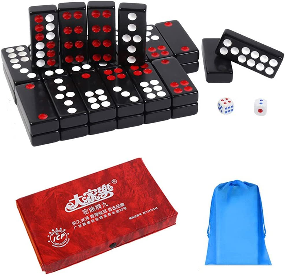 WaKallsmo 32PCS Pai Gow Direct sale of manufacturer Tiles Game Traditional Set Max 84% OFF Black Chinese