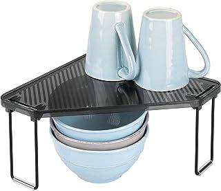 mDesign étagère cuisine en plastique et métal – rangement cuisine autoportant pour plan de travail et armoire – range vais...