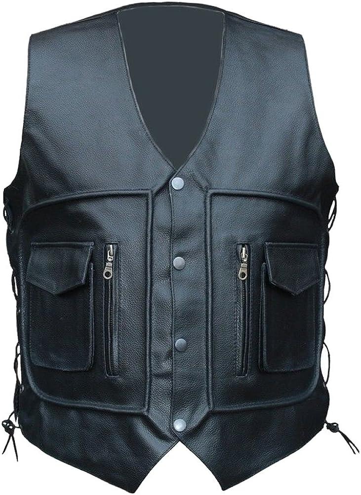 Classyak Men's Fashion Waist Coat Pocket Vest