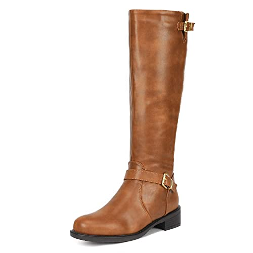 06382f3538c2 DREAM PAIRS Women s Side Zipper Fashion Knee High Riding Boots for Lady