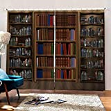 DOORWD Estantería de tamaño 3D Cortinas Cocina para Dormitorio Cortinas Opacas...