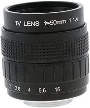Baosity 50mm 1/2'' F/1.4 C Mount CCTV Compact Prime Lens for Sony α7S/α7R/α7 II/α7/α6000/α5100/α5000/α3000/QX1/NEX-5T etc with C-NEX Adapter