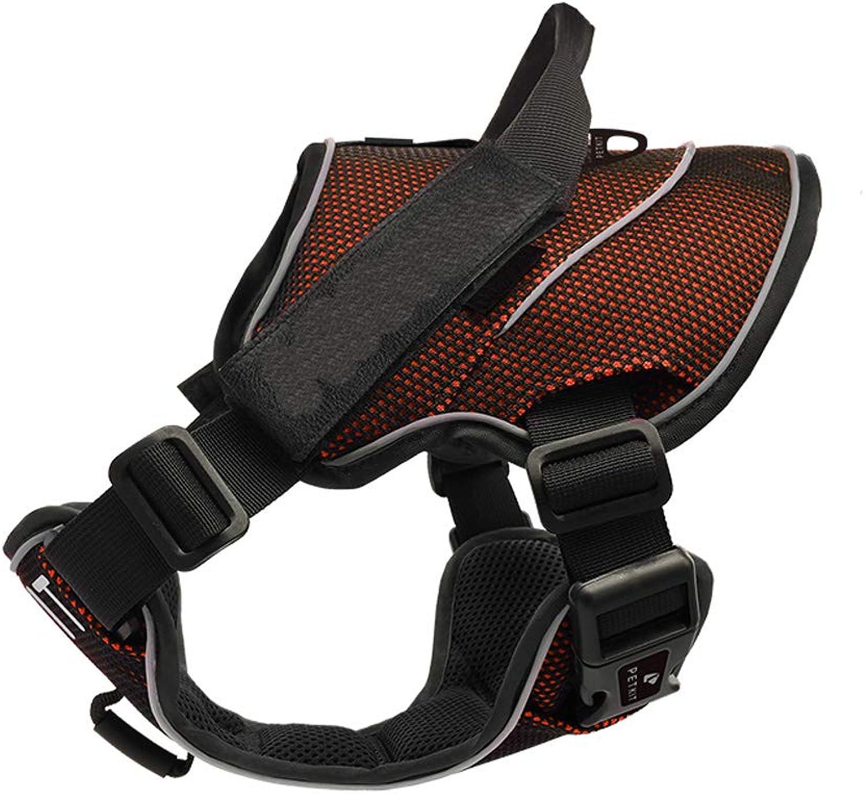 CHEN!Cintura toracica a prova di arma da fuoco, collante al guinzaglio per cani da compagnia, Orange,S
