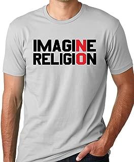 Imagine No Religion Atheist T-Shirt Free Thinker Tee
