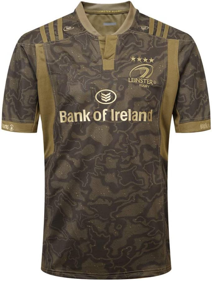 2019 Rugby World Cup Leinster Host and Rugby Clothing Leinster Football Home and Away Football Uniforms Suit Youth Home and Away Jersey T-Shirt Polyester Breathable Trainer,Blue-S