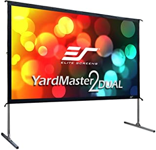 Elite Screens Yardmaster 2 DUAL Projector Screen, 100-INCH 16:9, Front and Rear Wraith Veil Dual 4K / 8K Ultra HD, Active ...