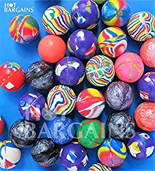 LARGE 27MM COLORFUL BOUNCY BALLS GREAT PARTY FILLER