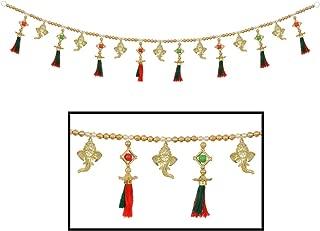 Amba Handicraft Door Hanging Toran Window Valance Dream Catcher Home Décor Interior Pooja bandanwaar Diwali Gift Festival Colorful Indian Handicraft Love.TORAN79